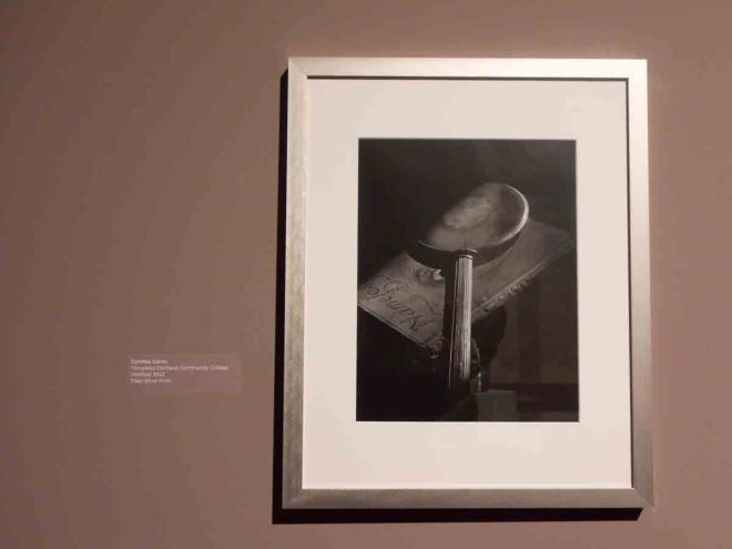 Cyntia Cantu's photograph in the SUNY exhibit.